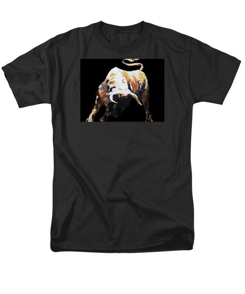 Fight Bull In Black Men's T-Shirt  (Regular Fit)