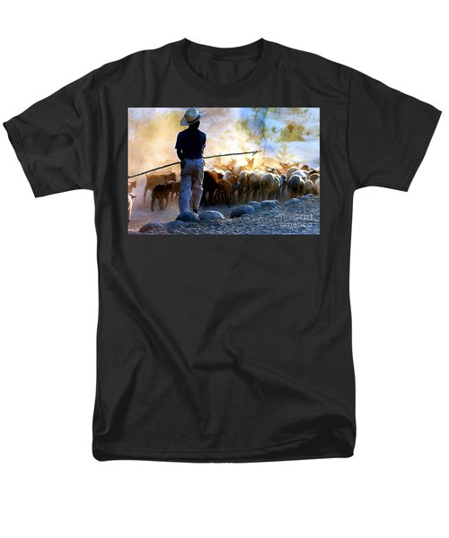 Herder Going Home In Mexico Men's T-Shirt  (Regular Fit) by Phyllis Kaltenbach