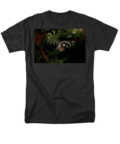 Men's T-Shirt  (Regular Fit) featuring the photograph  I Can See You  Mr. Raccoon by Kym Backland