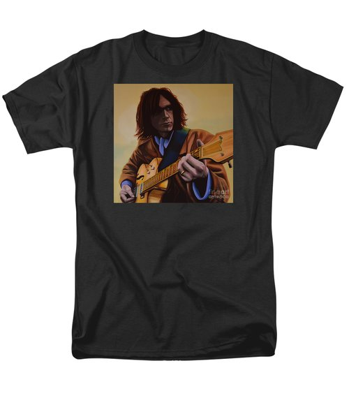 Neil Young Painting Men's T-Shirt  (Regular Fit) by Paul Meijering