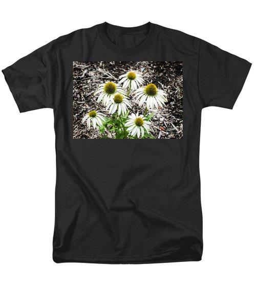 White Echinacea Men's T-Shirt  (Regular Fit) by Paul Mashburn