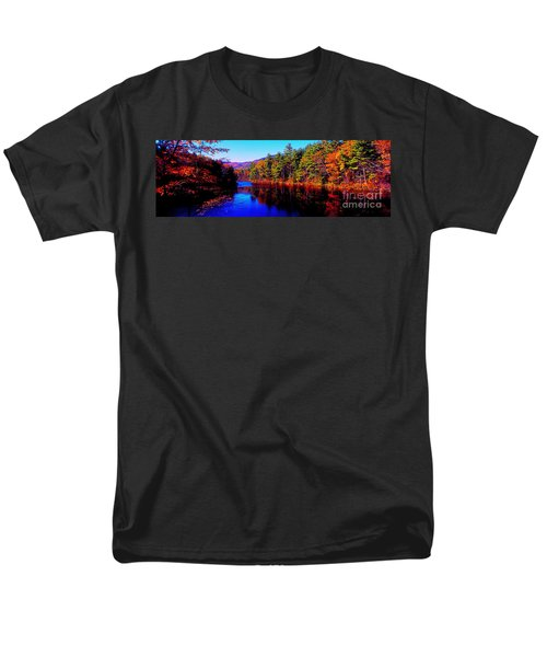 White Mountians National Park Red Eagle Pond New Hampshire Men's T-Shirt  (Regular Fit) by Tom Jelen
