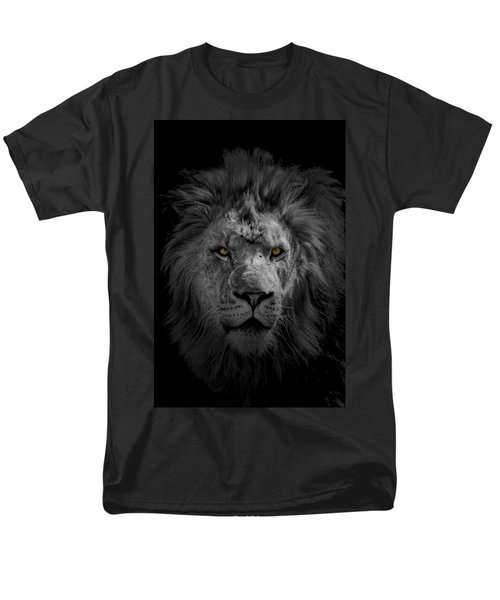 African Lion Men's T-Shirt  (Regular Fit) by Peter Lakomy