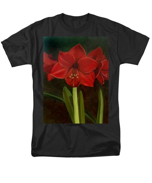 Men's T-Shirt  (Regular Fit) featuring the painting Amaryllis by Nancy Griswold