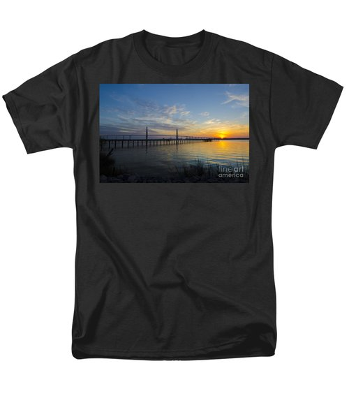 Sunset Over The Charleston Waters Men's T-Shirt  (Regular Fit) by Dale Powell