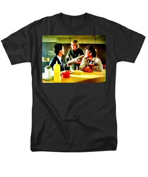 Men's T-Shirt  (Regular Fit) featuring the painting Ask It by Luis Ludzska