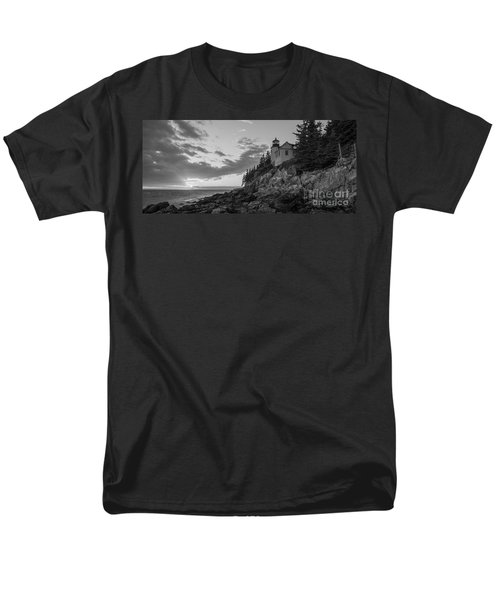 Bass Harbor Head Light Sunset  Men's T-Shirt  (Regular Fit) by Michael Ver Sprill