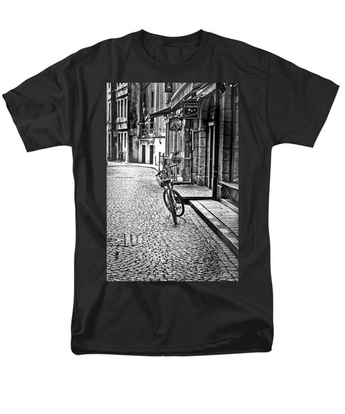 Bicycle And Sparrow 2  Men's T-Shirt  (Regular Fit) by Elf Evans