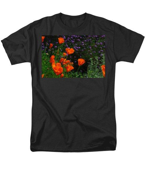 Men's T-Shirt  (Regular Fit) featuring the photograph California Poppies by Lynn Bauer