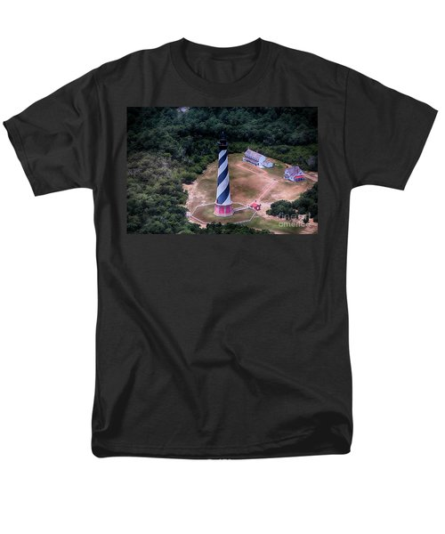 Cape Hatteras Lighthouse From Above Men's T-Shirt  (Regular Fit) by Tony Cooper
