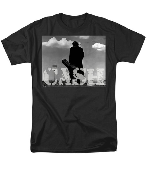 Men's T-Shirt  (Regular Fit) featuring the mixed media Johnny Cash by Marvin Blaine