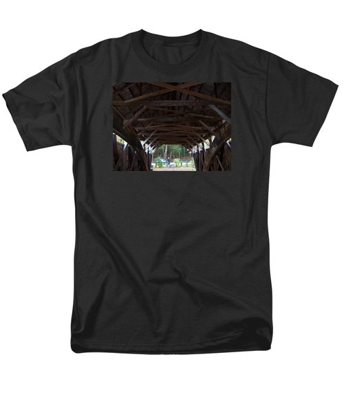 Covered Bridge Men's T-Shirt  (Regular Fit) by Catherine Gagne