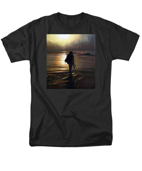 Men's T-Shirt  (Regular Fit) featuring the painting Crossing The River by Vesna Martinjak