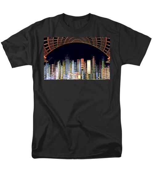Dallas At Night Men's T-Shirt  (Regular Fit) by David Perry Lawrence
