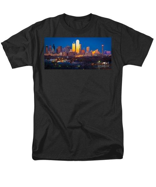 Dallas Skyline Men's T-Shirt  (Regular Fit) by Inge Johnsson