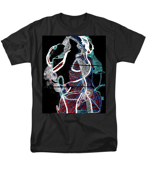 Men's T-Shirt  (Regular Fit) featuring the painting Dinka by Gloria Ssali