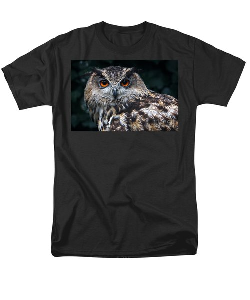European Eagle Owl Men's T-Shirt  (Regular Fit) by Nick  Biemans