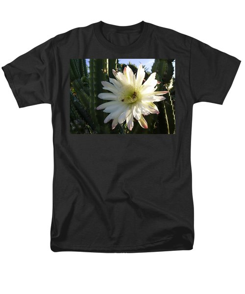 Men's T-Shirt  (Regular Fit) featuring the photograph Flowering Cactus 1 by Mariusz Kula