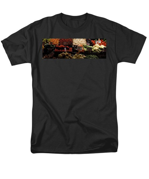Fruits And Vegetables At A Market Men's T-Shirt  (Regular Fit) by Panoramic Images