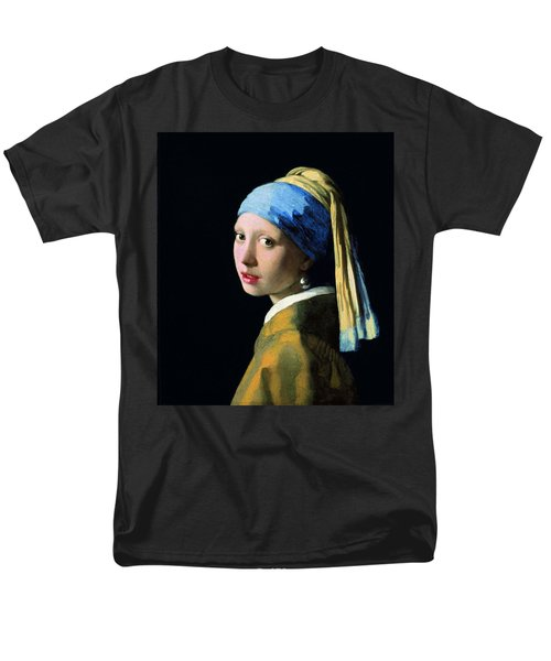 Girl With A Pearl Earring Men's T-Shirt  (Regular Fit) by Jan Vermeer