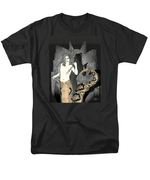 Gorgon Medusa  Men's T-Shirt  (Regular Fit) by Quim Abella