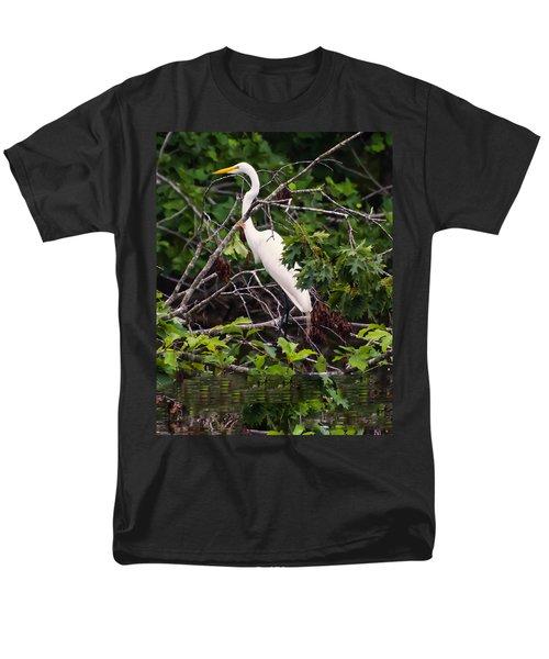 Great White Egret Men's T-Shirt  (Regular Fit) by Chris Flees