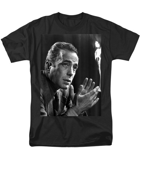 Humphrey Bogart Portrait 2 Karsh Photo Circa 1954-2014 Men's T-Shirt  (Regular Fit) by David Lee Guss
