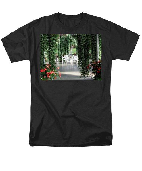 Men's T-Shirt  (Regular Fit) featuring the photograph Juneau Glacier Gardens by Jennifer Wheatley Wolf
