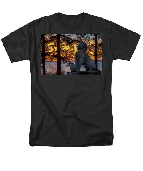 Lion At Sunset Men's T-Shirt  (Regular Fit) by Jerry Gammon