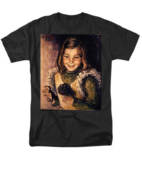 Men's T-Shirt  (Regular Fit) featuring the painting Luisa Fernanda by Walter Casaravilla