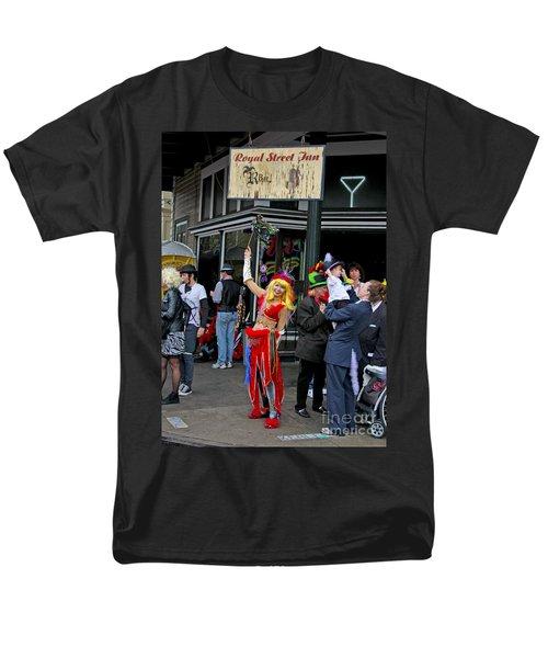 Men's T-Shirt  (Regular Fit) featuring the photograph French Quarter Mardi Gras by Luana K Perez