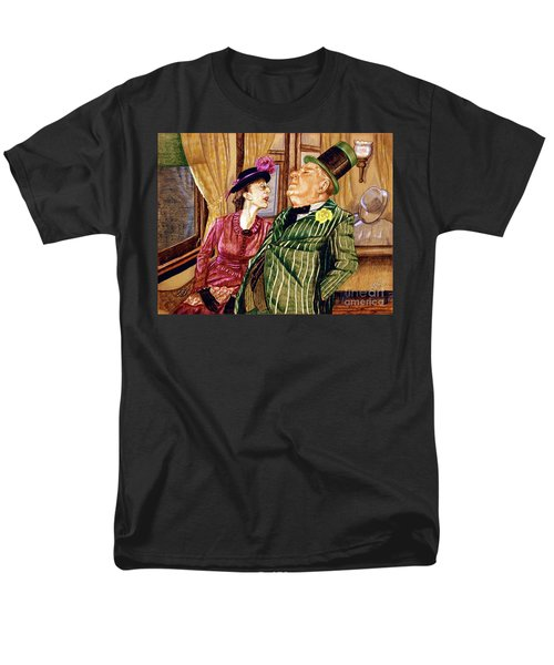 Margaret And W.c. Fields Men's T-Shirt  (Regular Fit) by Linda Simon