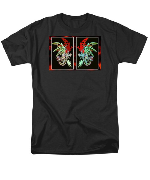 Mech Dragons Pastel Men's T-Shirt  (Regular Fit)