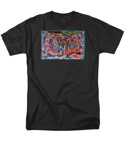 Men's T-Shirt  (Regular Fit) featuring the painting Nature Walk In The Yakima Delta by Lisa Kaiser