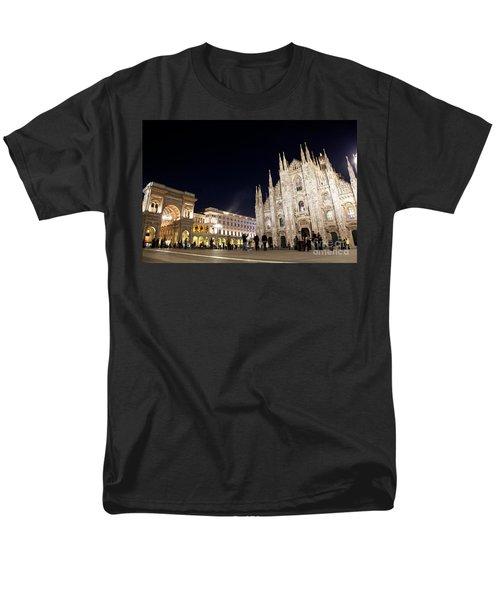 Milan Cathedral Vittorio Emanuele II Gallery Italy Men's T-Shirt  (Regular Fit) by Michal Bednarek