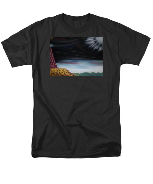 Men's T-Shirt  (Regular Fit) featuring the pastel Moon Tower by Robert Nickologianis