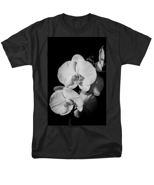 Men's T-Shirt  (Regular Fit) featuring the photograph Moth Orchid Bw by Ron White