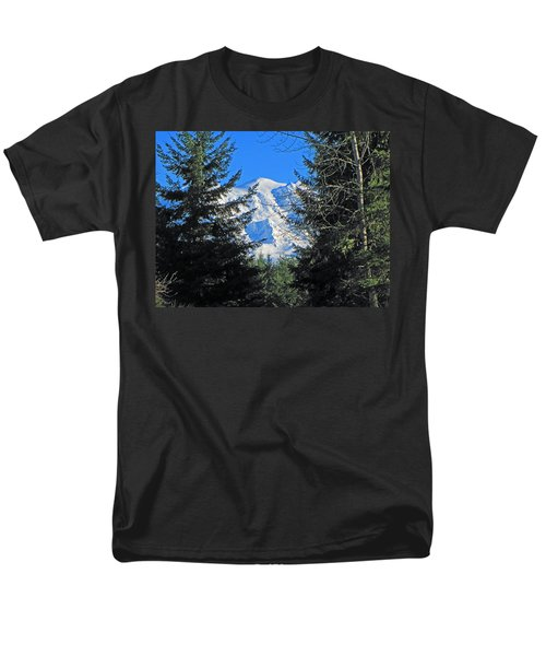 Men's T-Shirt  (Regular Fit) featuring the photograph Mt. Rainier I by Tikvah's Hope