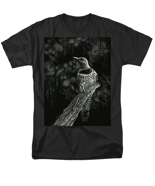 Men's T-Shirt  (Regular Fit) featuring the drawing Northern Flicker by Sandra LaFaut
