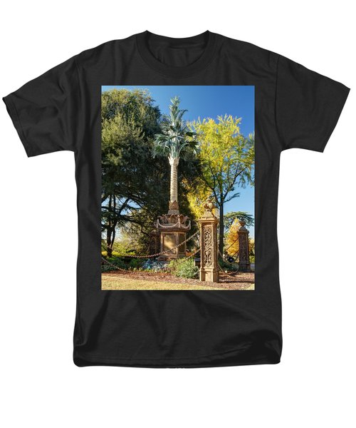Palmetto Regiment Monument  Men's T-Shirt  (Regular Fit) by Charles Hite