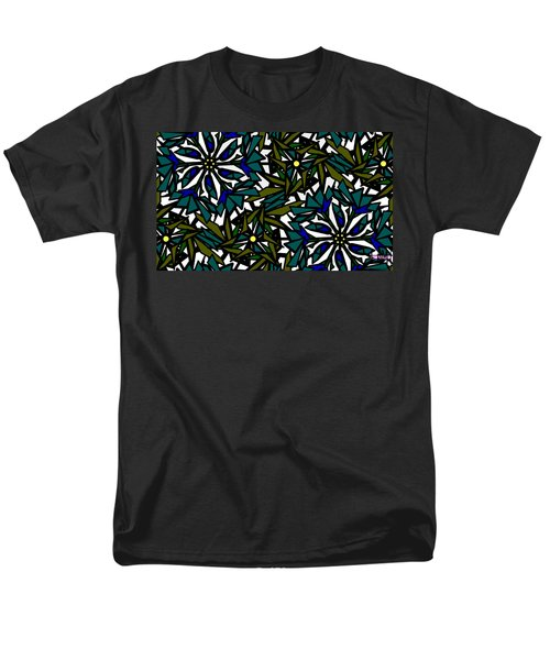Pin-wheel Flowers Men's T-Shirt  (Regular Fit) by Elizabeth McTaggart