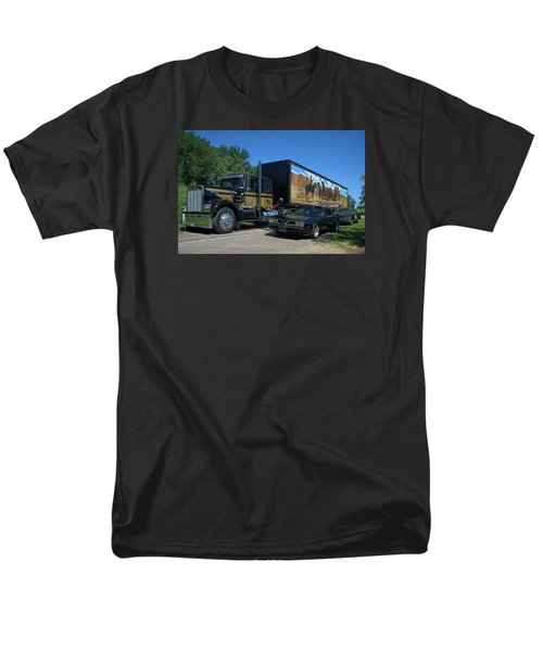 Smokey And The Bandit Tribute 1973 Kenworth Semi Truck And The Bandit Men's T-Shirt  (Regular Fit) by Tim McCullough