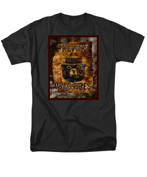 Smokey The Bear Only You Can Prevent Wild Fires Men's T-Shirt  (Regular Fit) by John Stephens