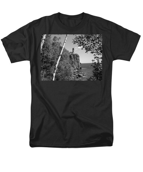 Split Rock Black And White Men's T-Shirt  (Regular Fit) by Bonfire Photography