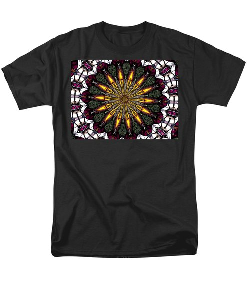 Men's T-Shirt  (Regular Fit) featuring the photograph Stained Glass Kaleidoscope 1 by Rose Santuci-Sofranko