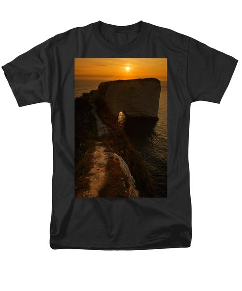 Sunrise At Old Harry Rocks Men's T-Shirt  (Regular Fit) by Ian Middleton