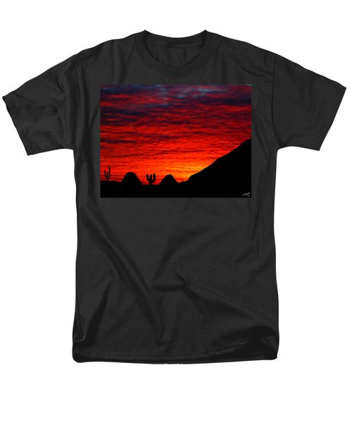 Sunset In The Desert Men's T-Shirt  (Regular Fit) by Bruce Nutting