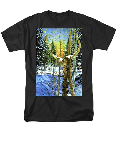Men's T-Shirt  (Regular Fit) featuring the painting Supplication-psalm 28 Verse 2 by Barbara Jewell