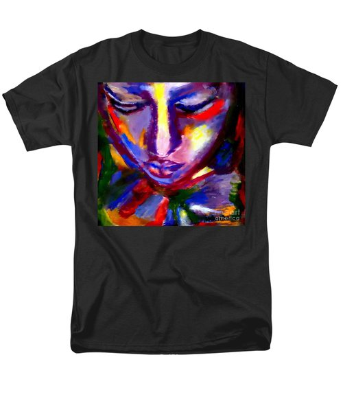 Men's T-Shirt  (Regular Fit) featuring the painting The Universe And Me by Helena Wierzbicki