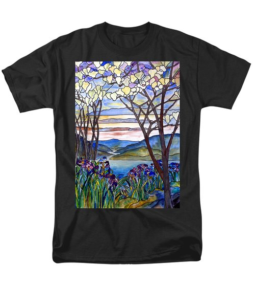 Stained Glass Tiffany Frank Memorial Window Men's T-Shirt  (Regular Fit) by Donna Walsh
